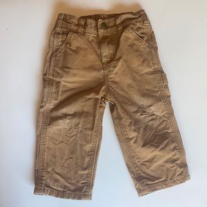Carhartt Thrashed Duck Brown Canvas Pants 12M